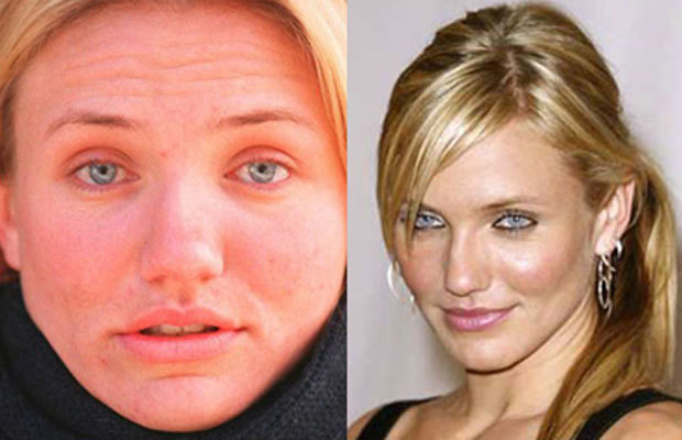 Most controversial celebrity pics without makeup