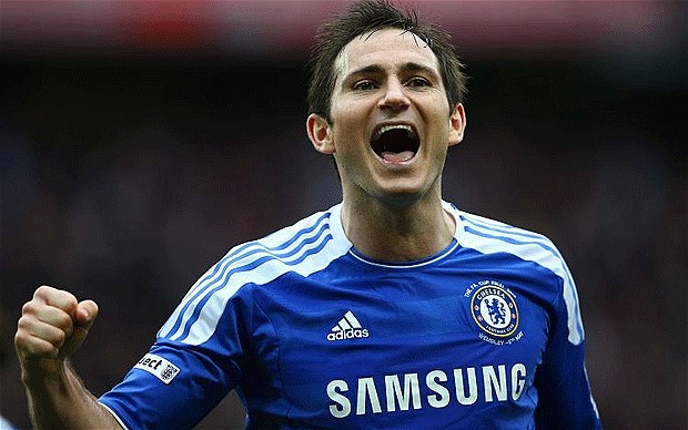 Lampard playing at Chelsea