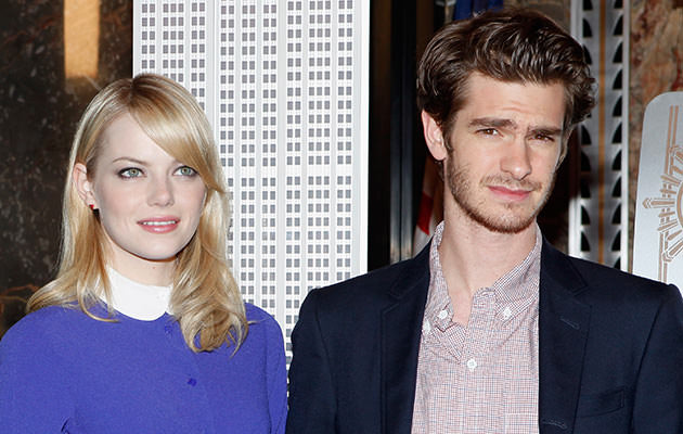 """Andrew Garfield and Emma Stone"