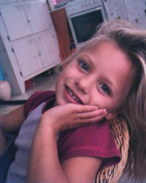 Amber Delil als kind