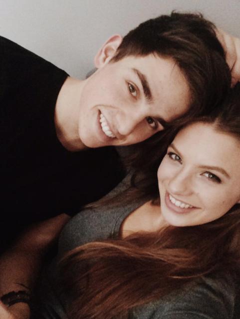 Amber Delil met haar vriend