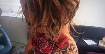 Cheryl cole and her tattoo - clean