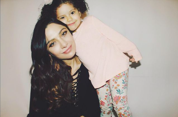 Christina Evangeline with her kid