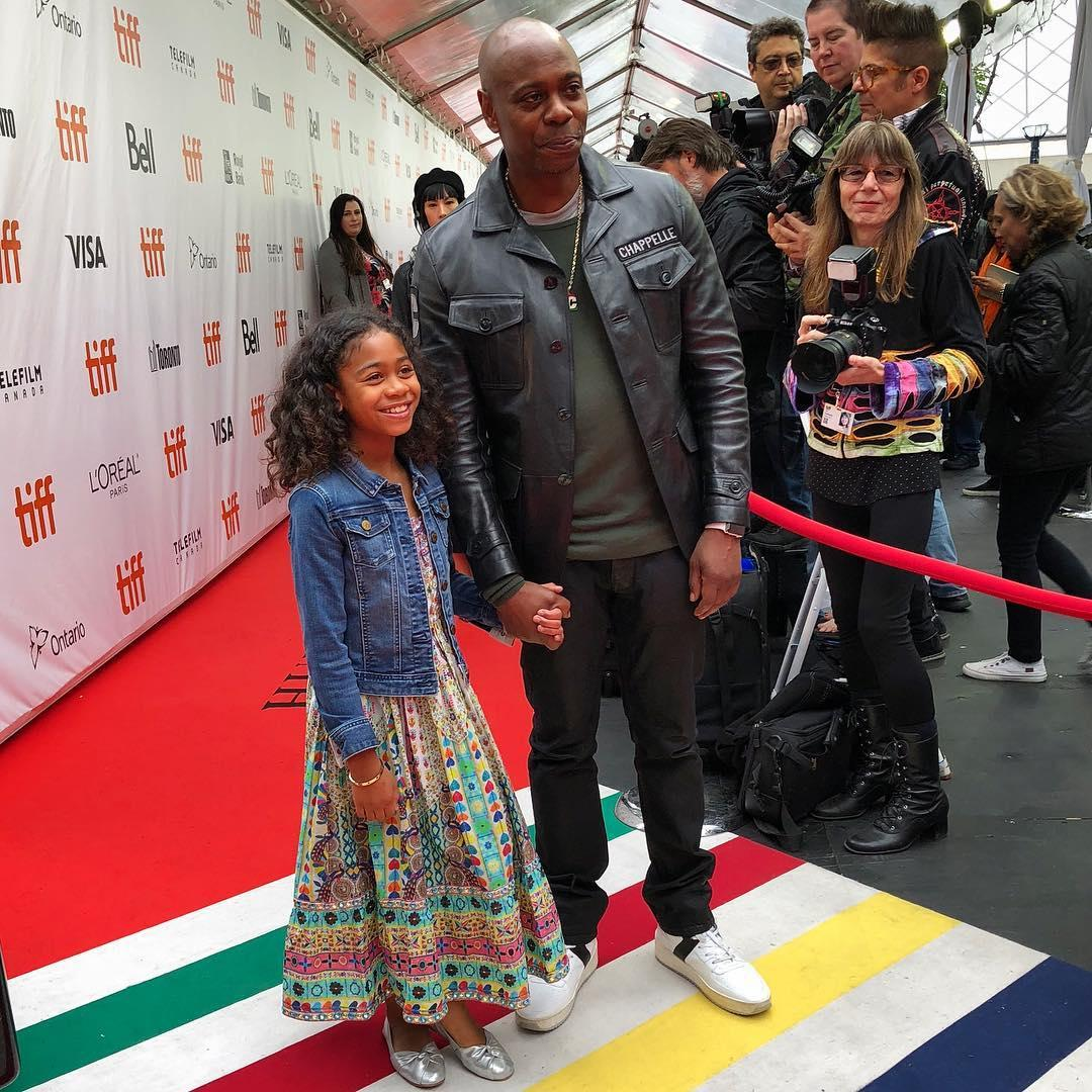 David Chappelle with his daughter Sanaa Chappelle
