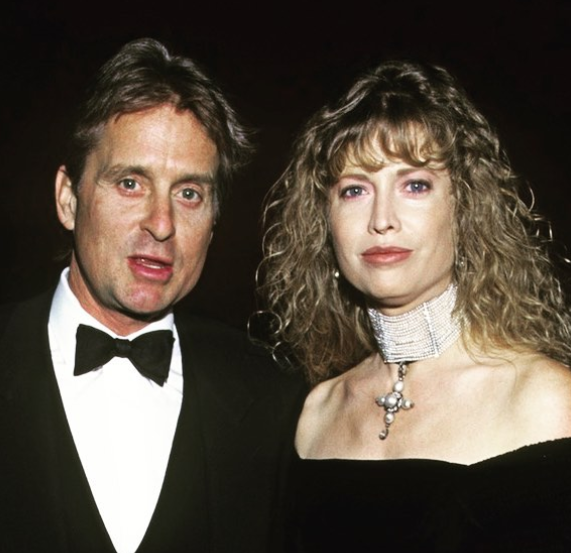 Diandra Lucker with ex-husband Michael Douglas