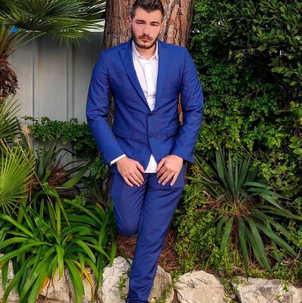 Dorian Rossini in his suit
