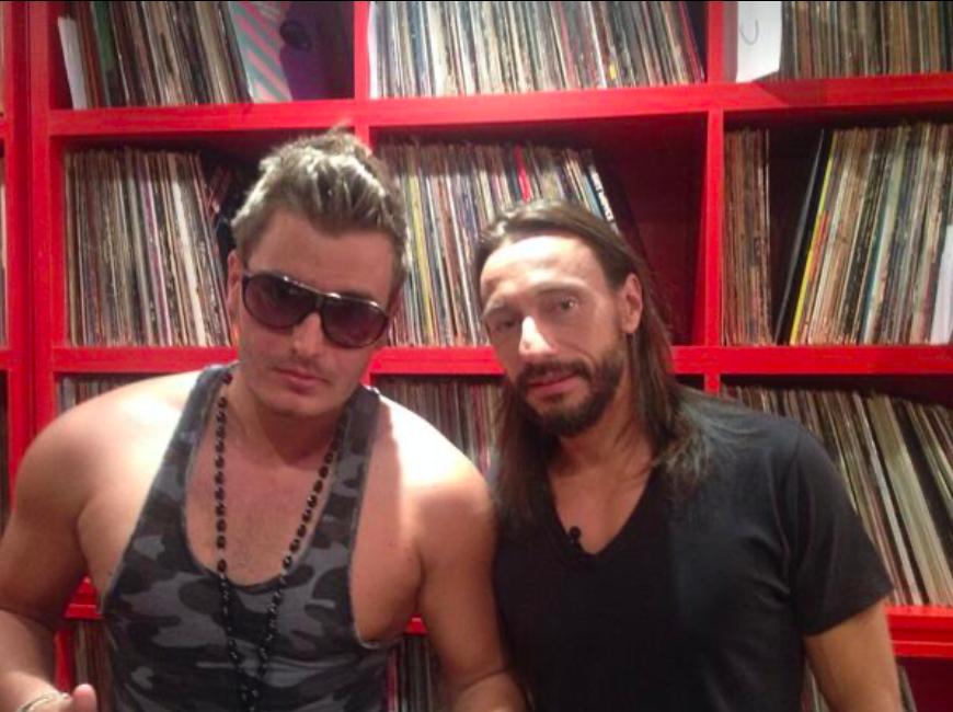 Dorian Rossini with a friend