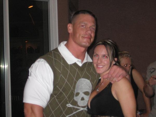 Elizabeth Huberdeau with John Cena