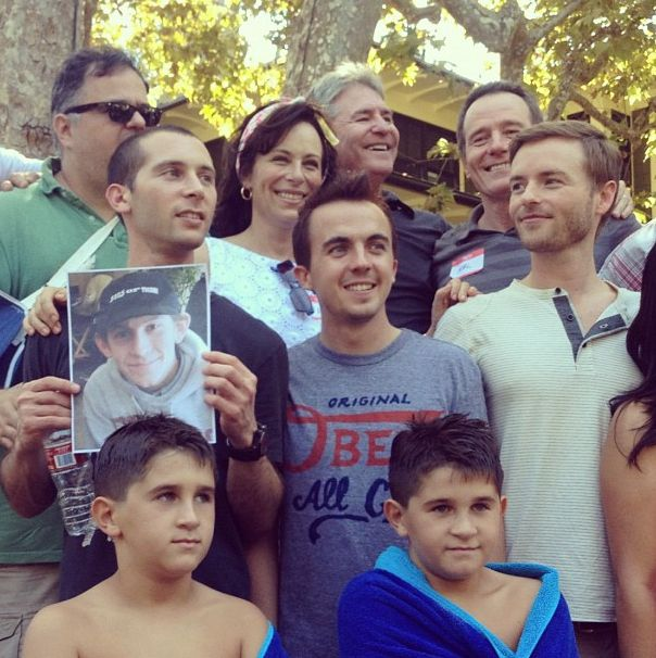 Erik Per Sullivan with Malcolm in the Middle cast