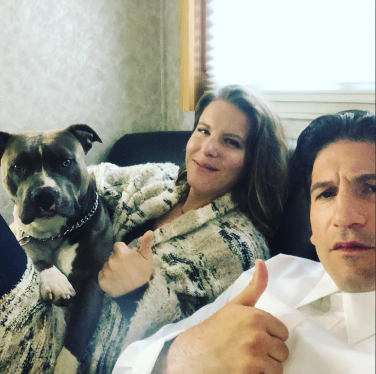 Erin Bernthal with Jon and their dog