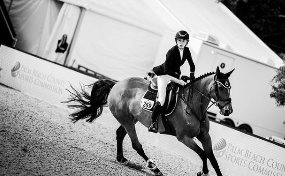 Hannah Margaret Selleck riding her horse