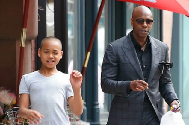 Ibrahim Chappelle with his dad Dave Chappelle