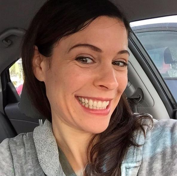 Lauren Stamile in her car