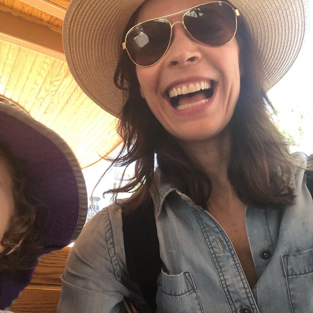 Lauren Stamile with sunglasses