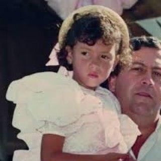 Manuela Escobar as a child