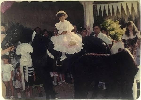 Manuela Escobar with Pablo Escobar