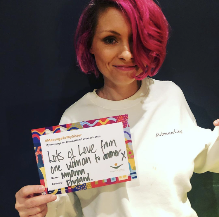 MyAnna Buring with a message to her sister