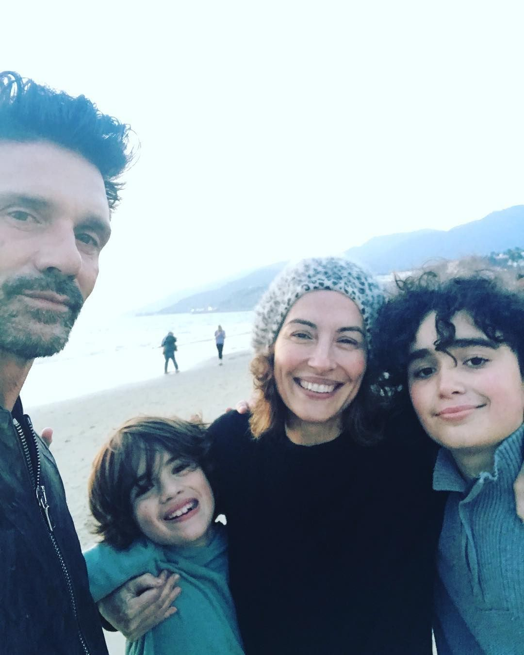 Wendy Moniz and Frank Grillo with their two sons